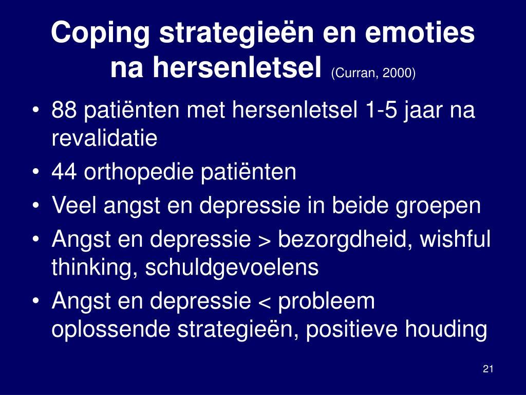 Coping strategieën en emoties na hersenletsel