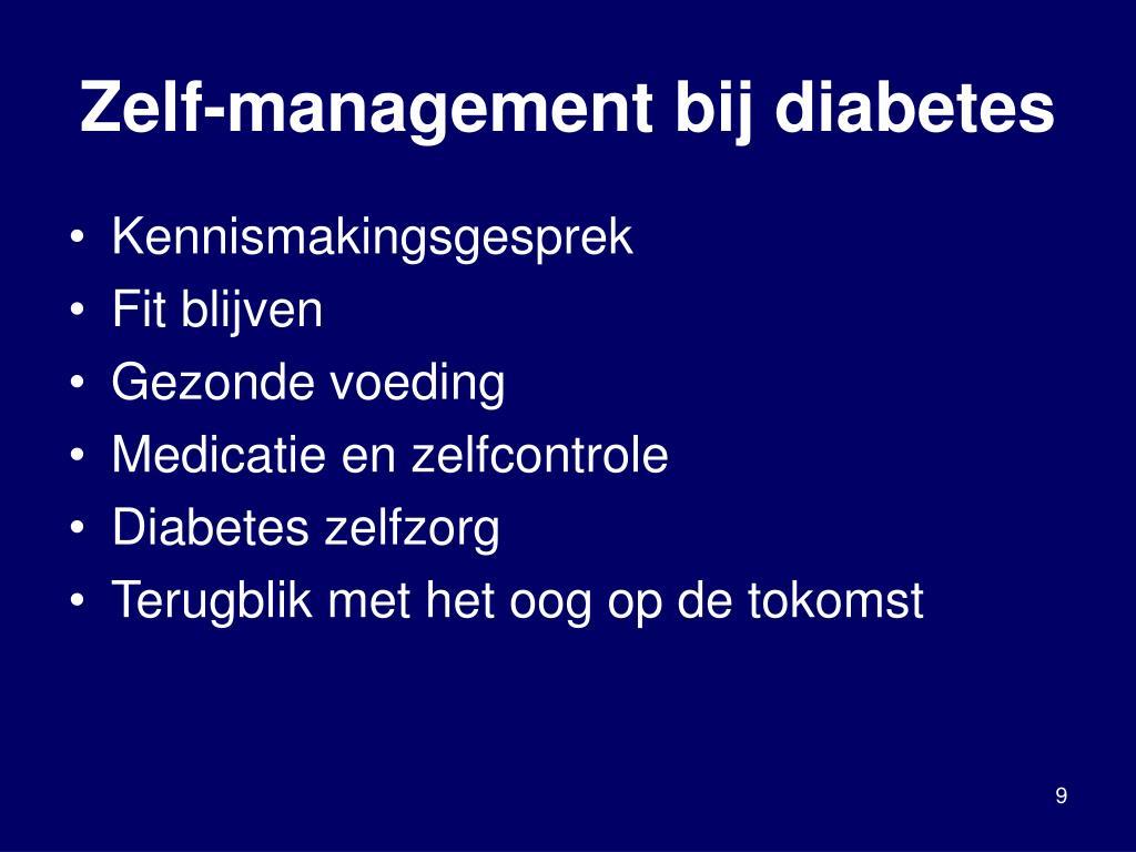 Zelf-management bij diabetes