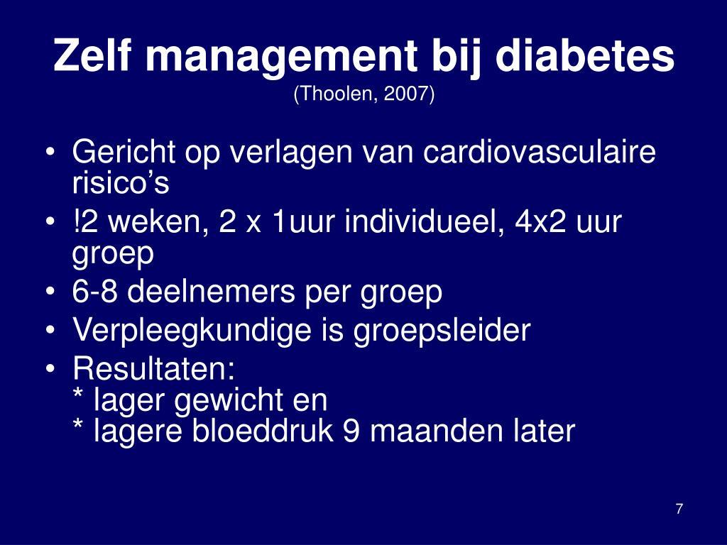 Zelf management bij diabetes