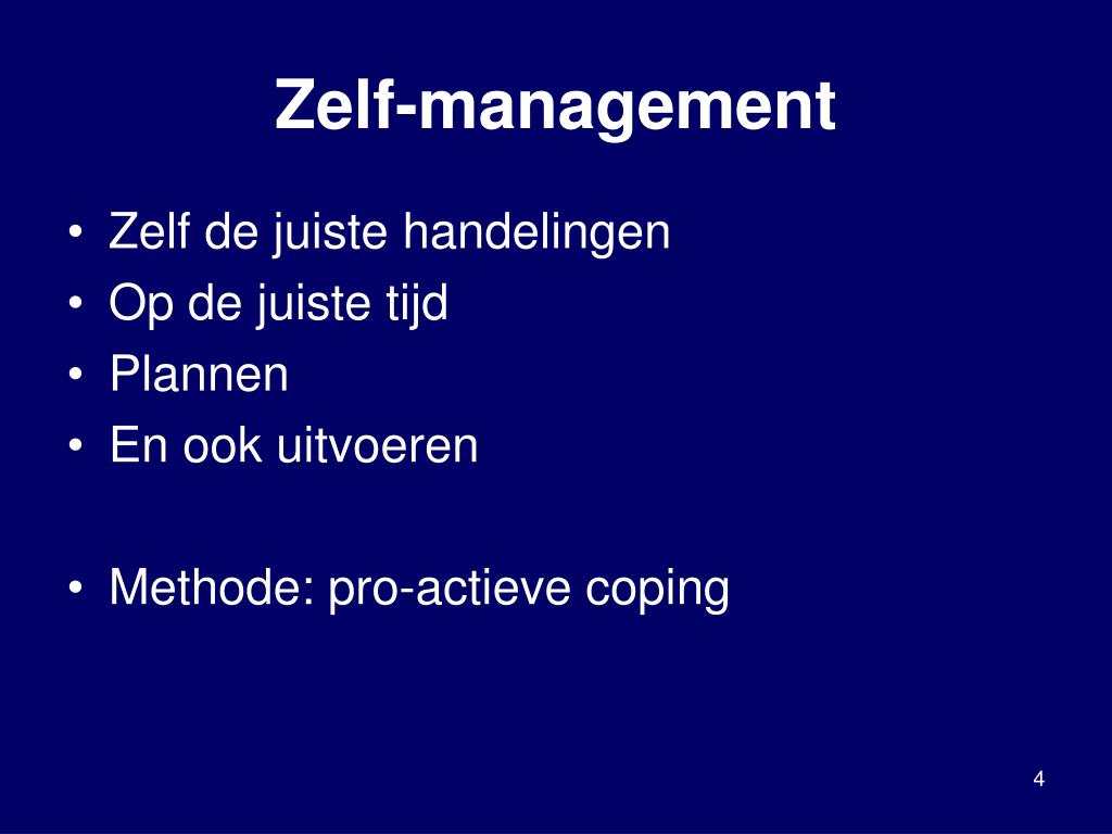 Zelf-management