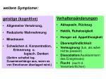 weitere symptome