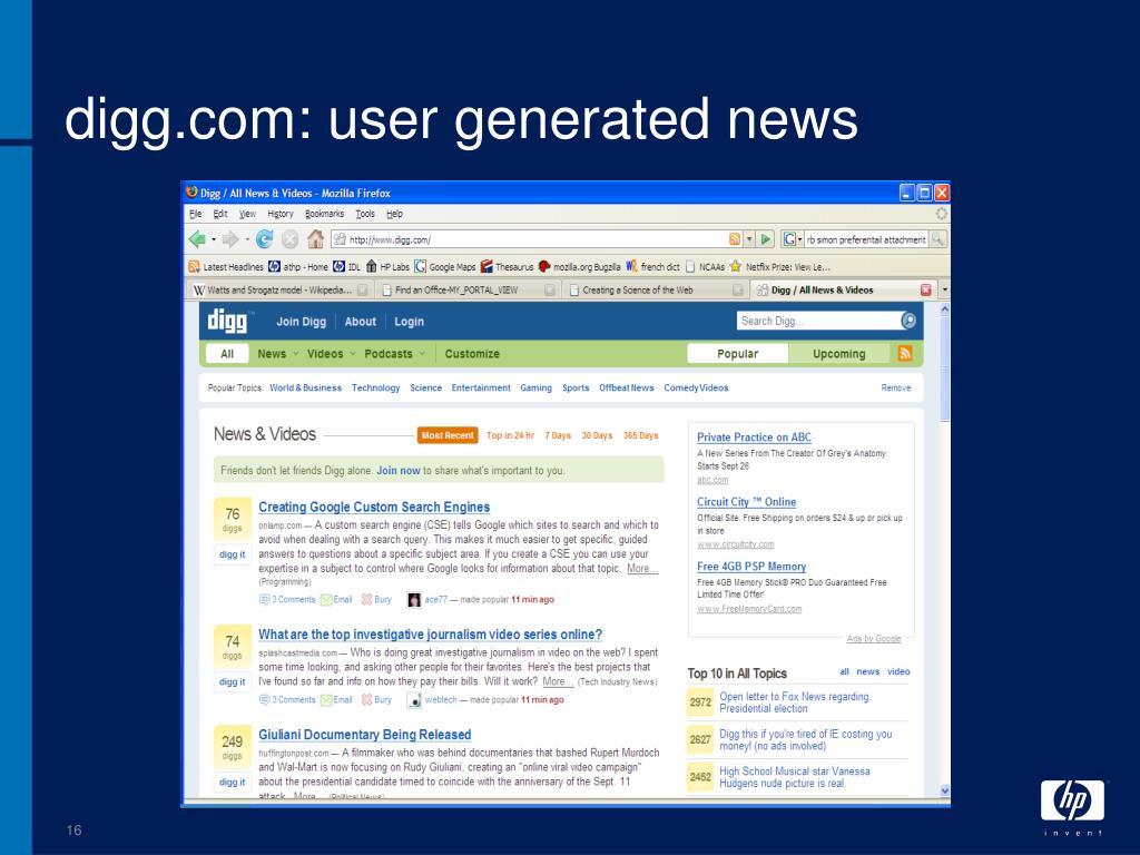 digg.com: user generated news