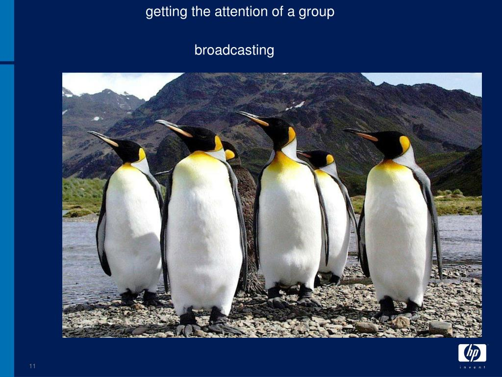 getting the attention of a group
