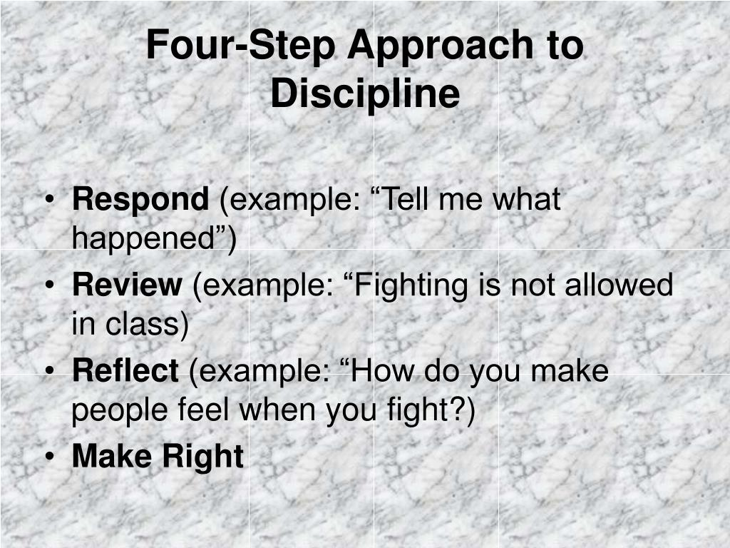 Four-Step Approach to Discipline