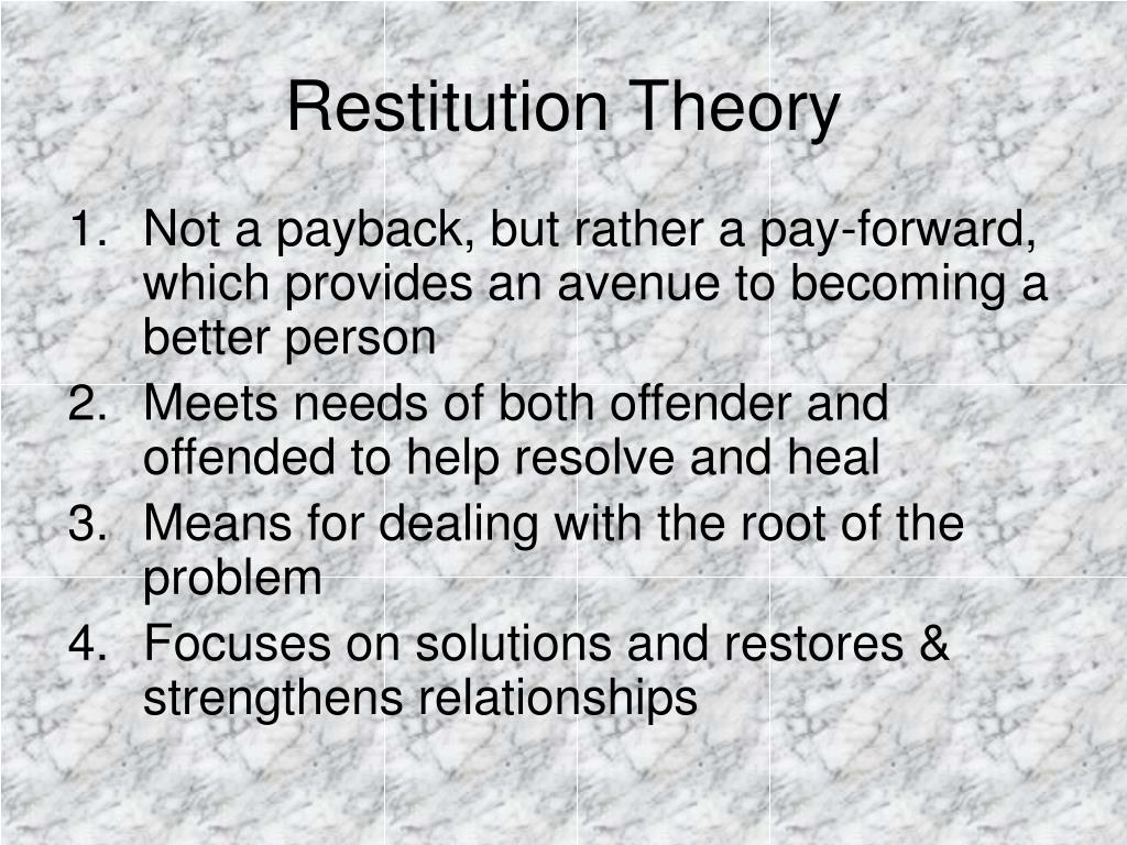 Restitution Theory