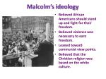 malcolm s ideology