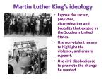 martin luther king s ideology
