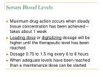 serum blood levels
