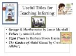 useful titles for teaching inferring