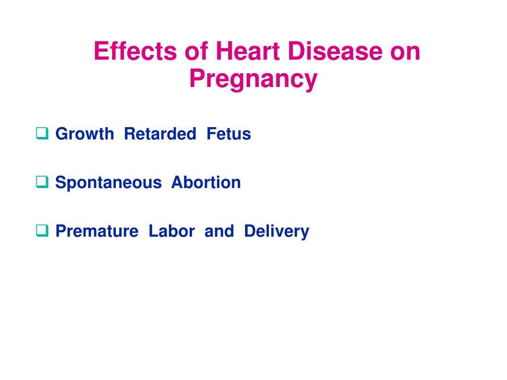 Effects of Heart Disease on Pregnancy
