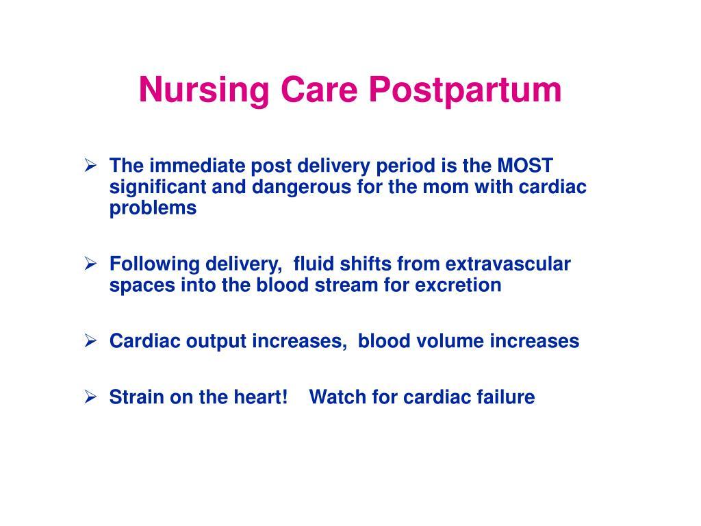 Nursing Care Postpartum