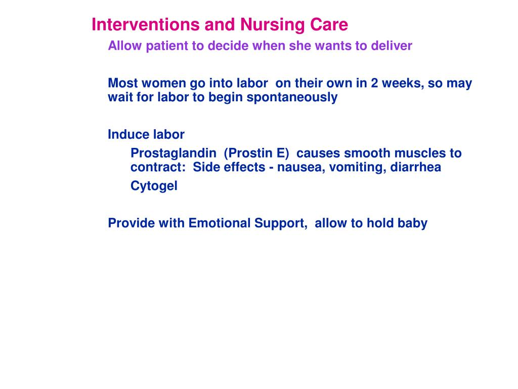 Interventions and Nursing Care