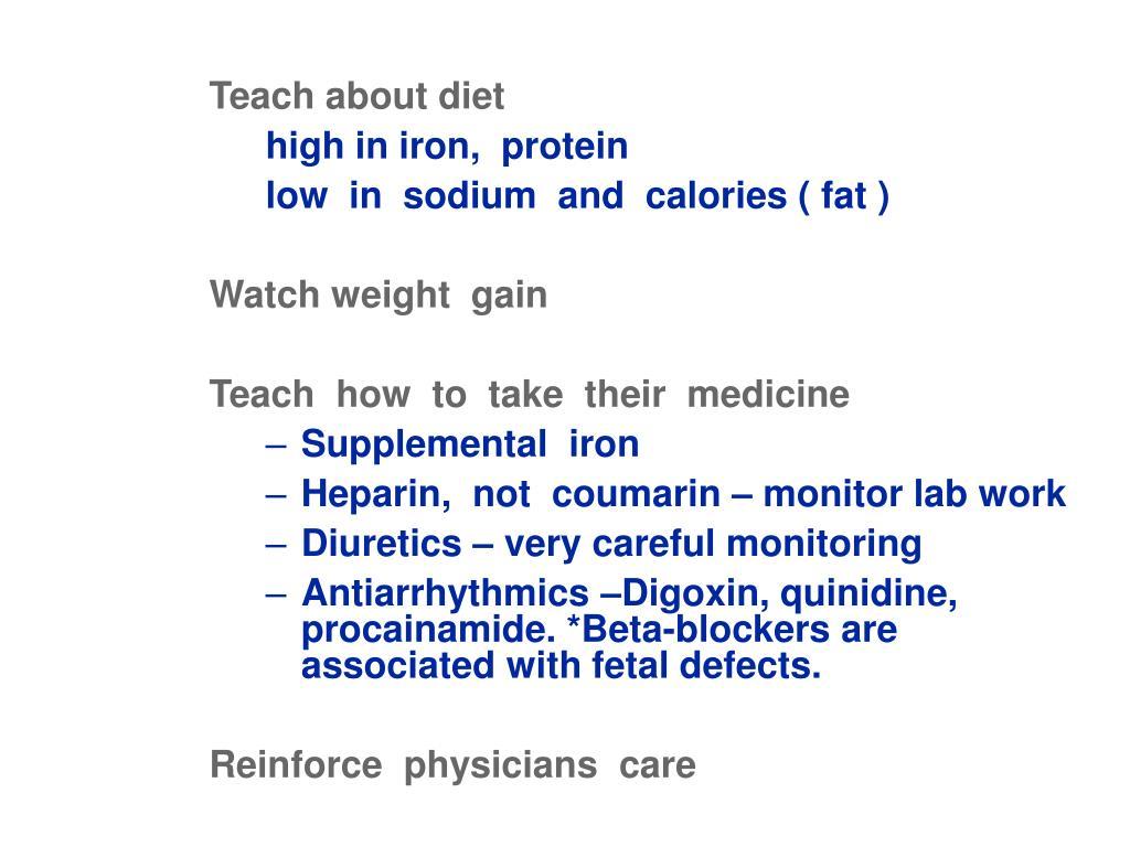 Teach about diet