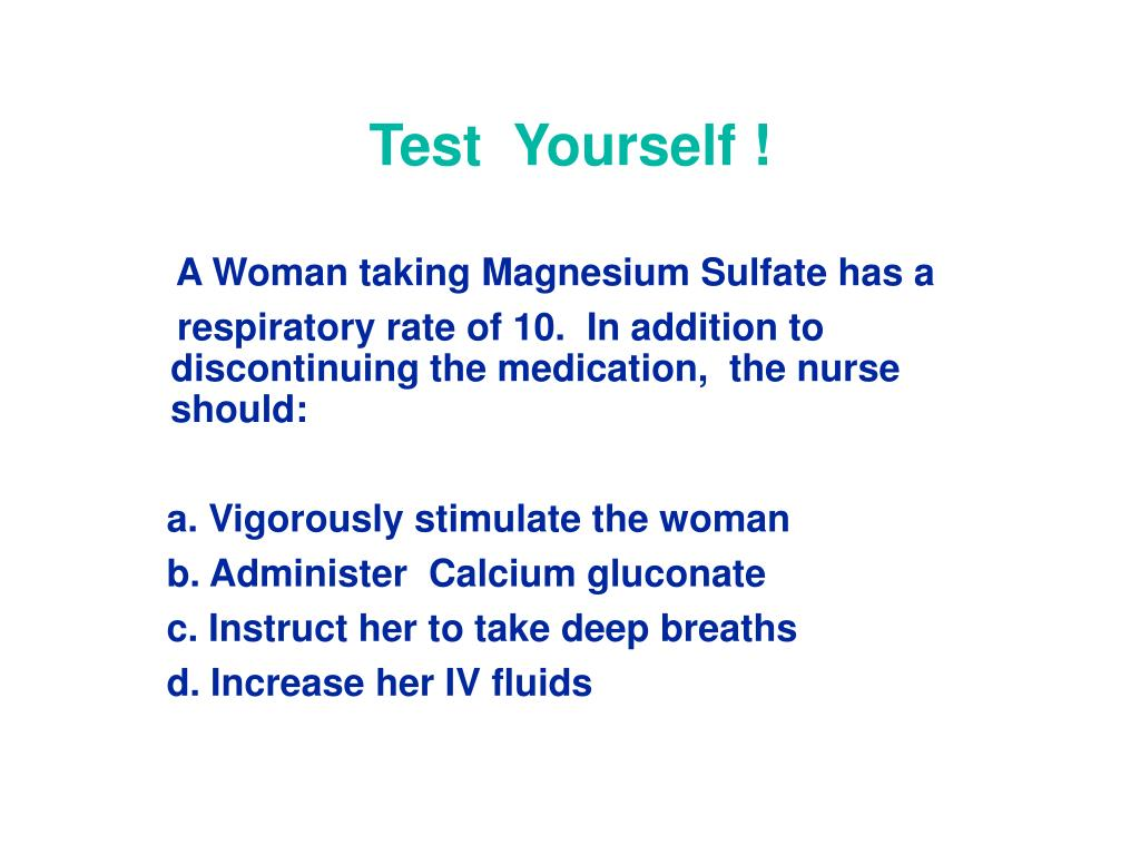 Test  Yourself !