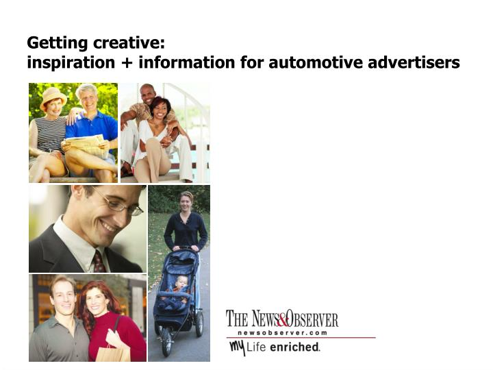 Getting creative inspiration information for automotive advertisers