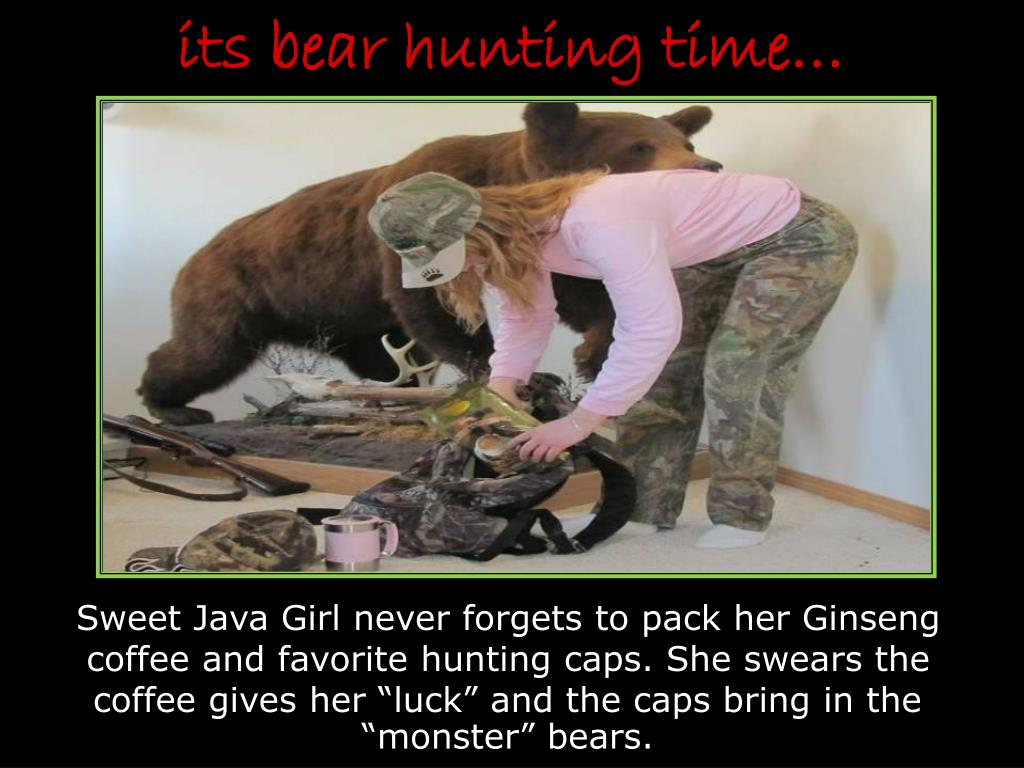 its bear hunting time l.