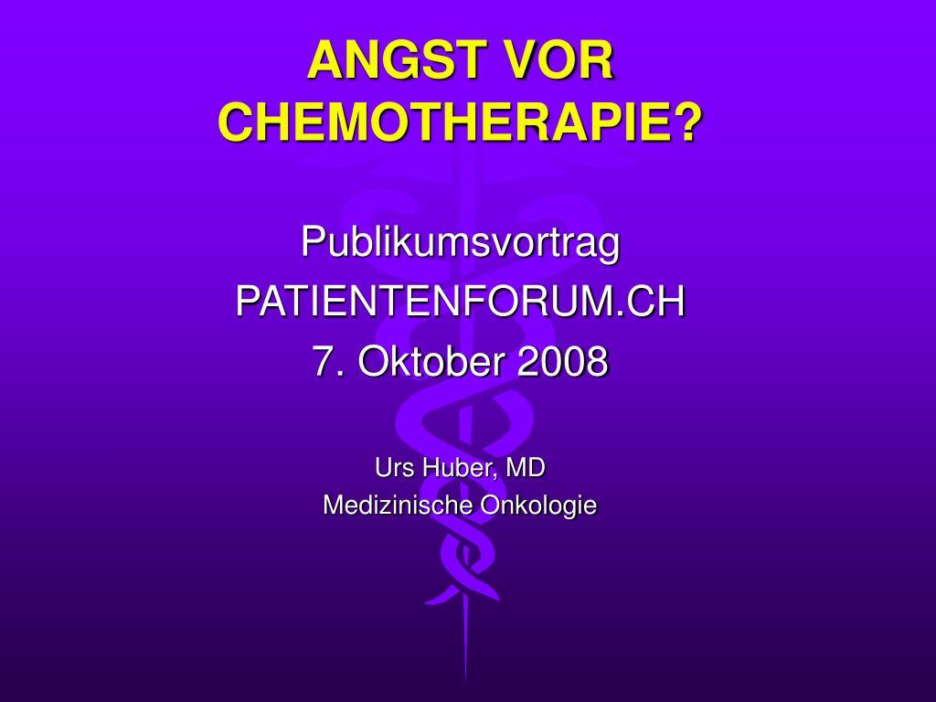 angst vor chemotherapie l.