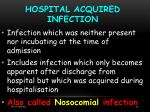 hospital acquired infection14