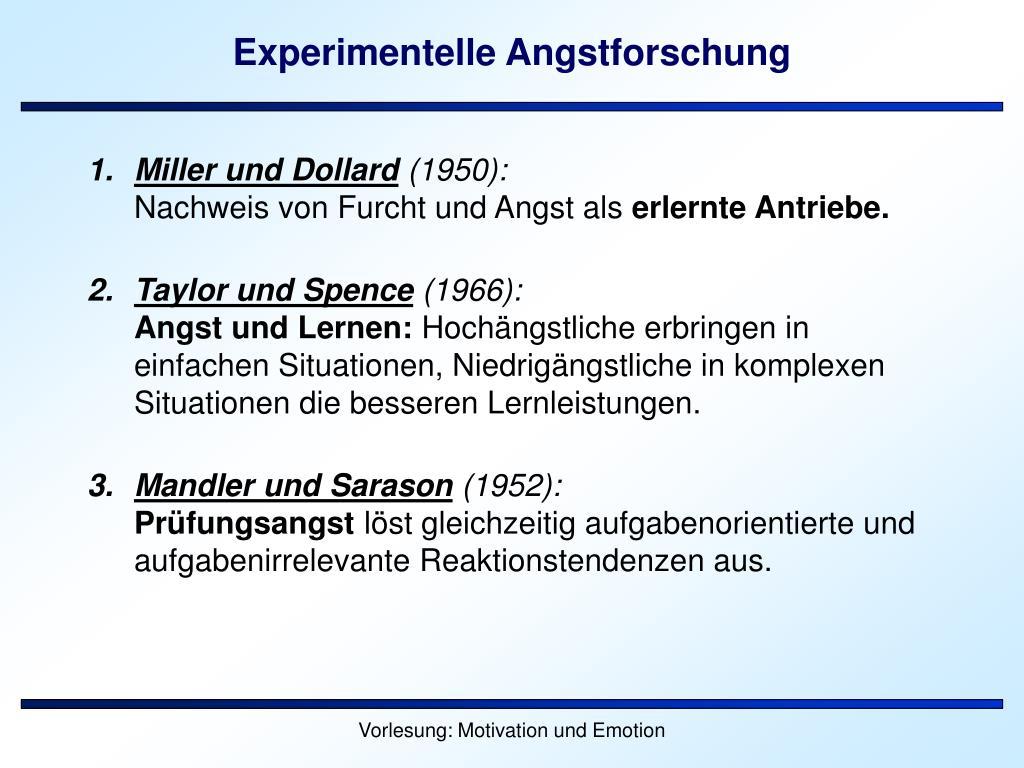 Experimentelle Angstforschung