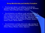 group membership and identity formation