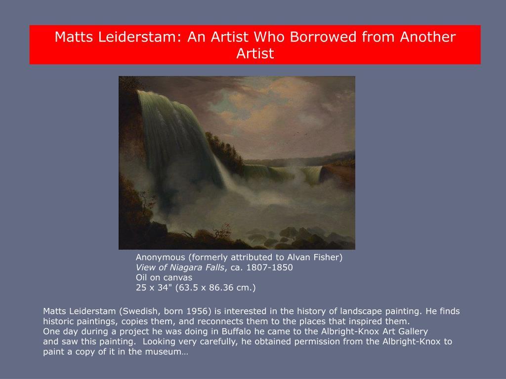 Matts Leiderstam: An Artist Who Borrowed from Another Artist