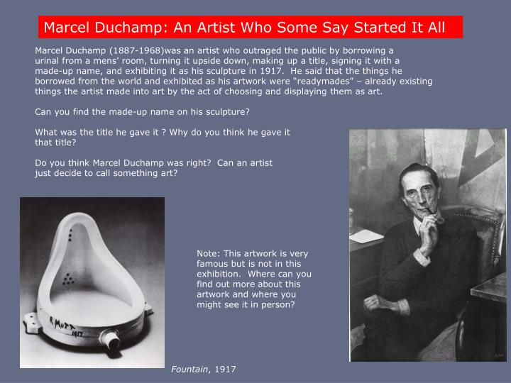 Marcel Duchamp: An Artist Who Some Say Started It All