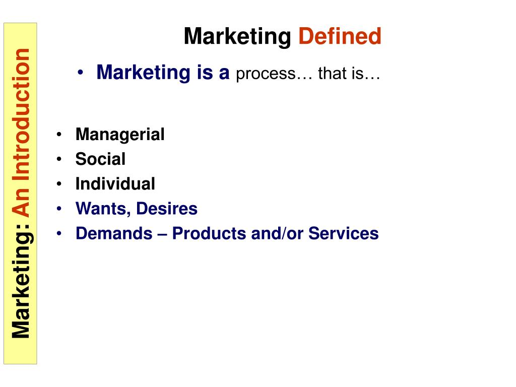 Marketing is a