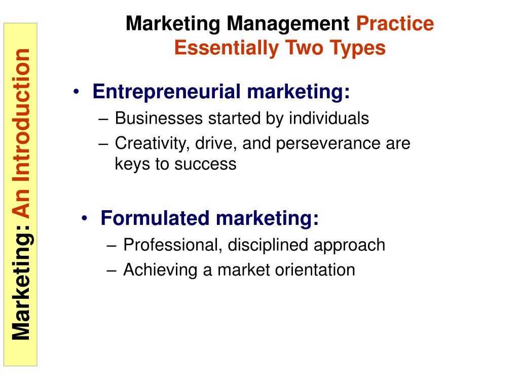 Entrepreneurial marketing: