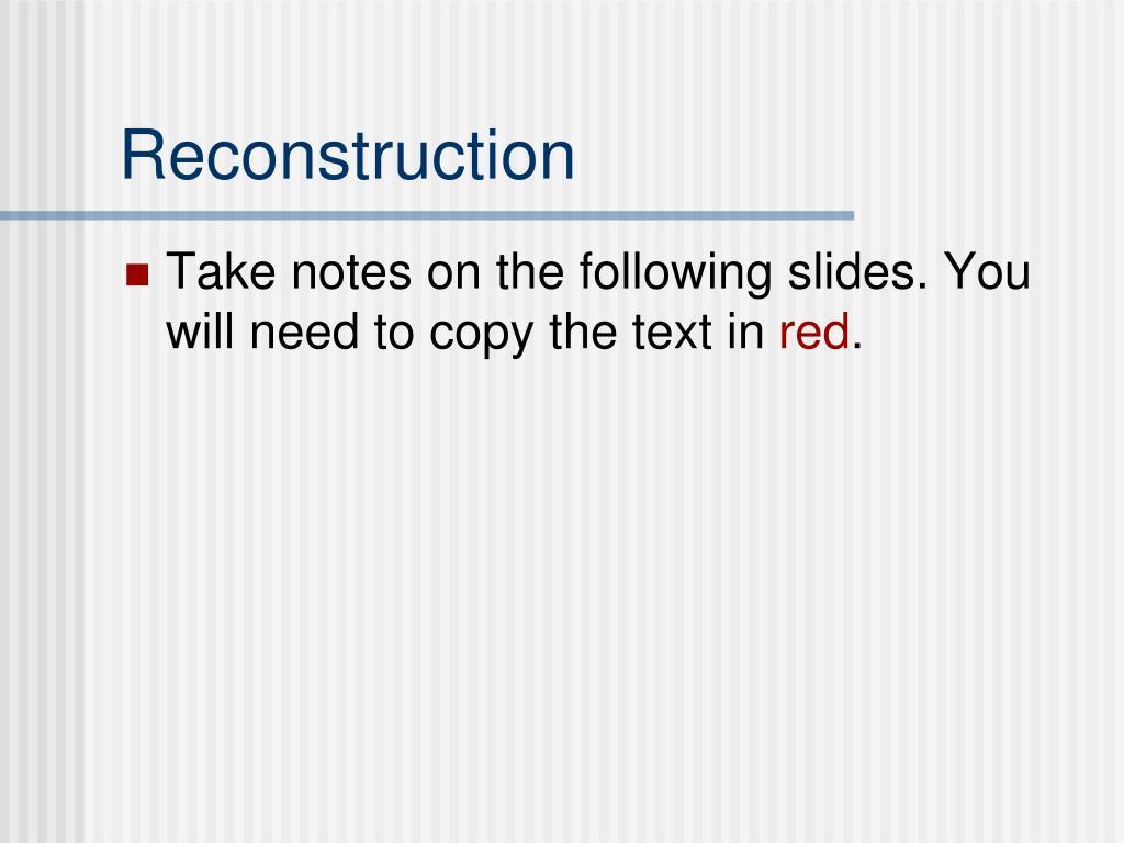 reconstruction l.