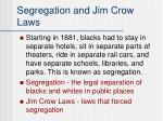 segregation and jim crow laws