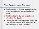 the freedmen s bureau