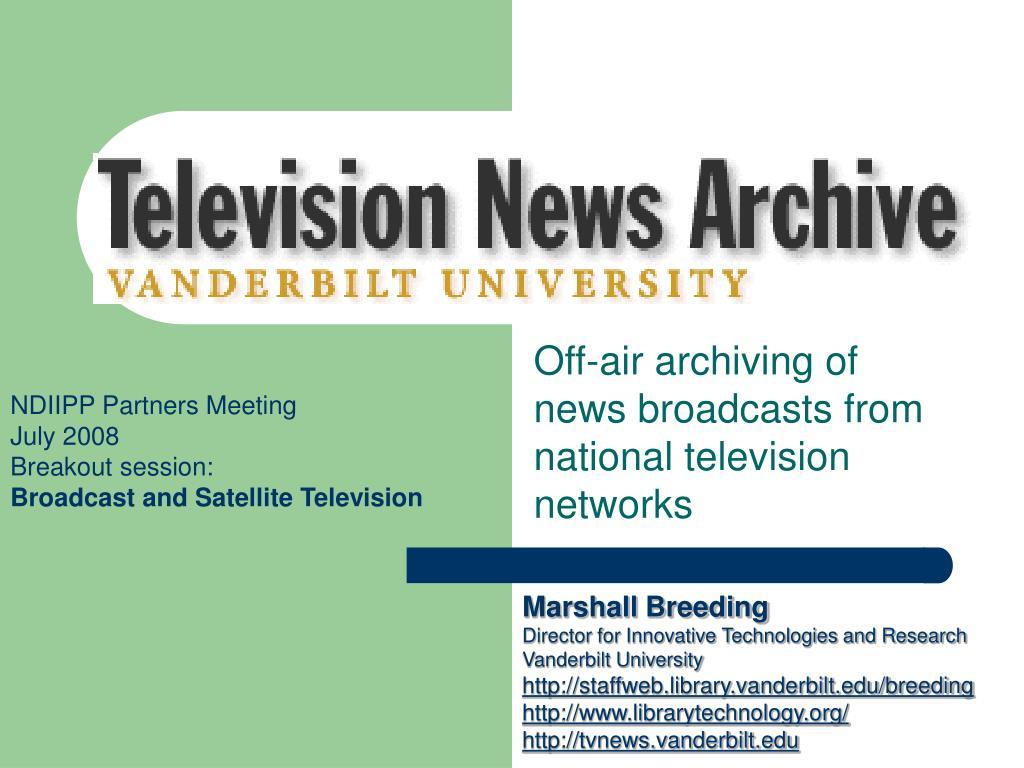 vanderbilt television news archive