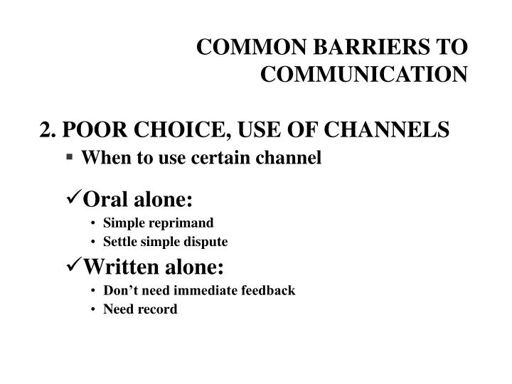 Common barriers to communication2