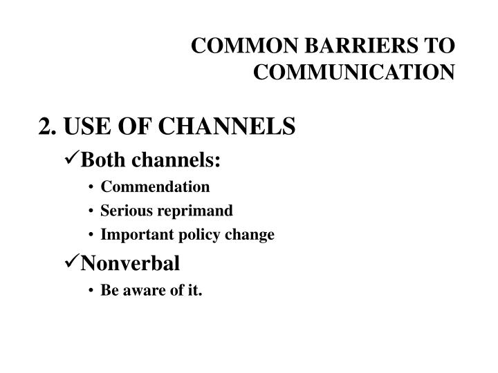 Common barriers to communication3