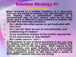 solution strategy 1