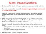 moral issues conflicts