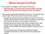 moral issues conflicts56