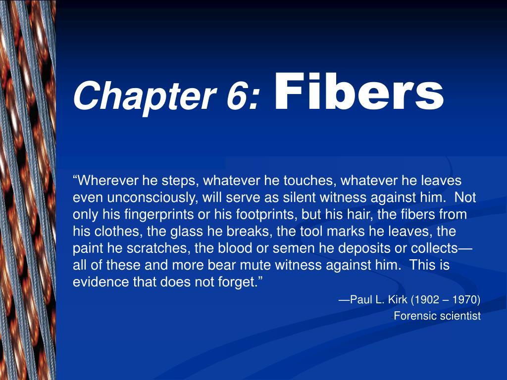 chapter 6 fibers l.