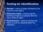 testing for identification23