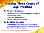 avoiding three causes of legal problems10