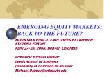 emerging equity markets back to the future