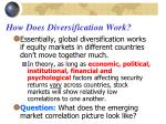 how does diversification work