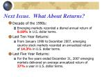 next issue what about returns