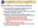 quick history of emerging markets