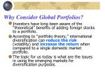 why consider global portfolios