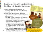 forums and streams innotribe at sibos enabling collaborative innovation