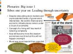 plenaries big issue 1 sibos one year on leading through uncertainty