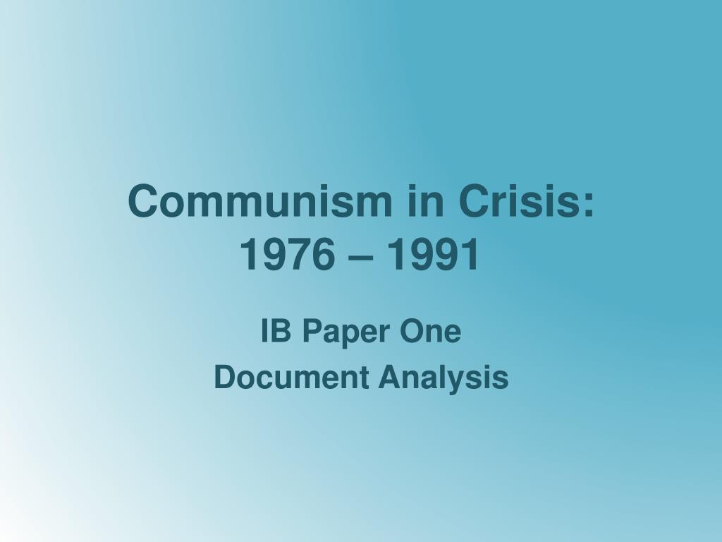 communism in crisis 1976 1991 l.