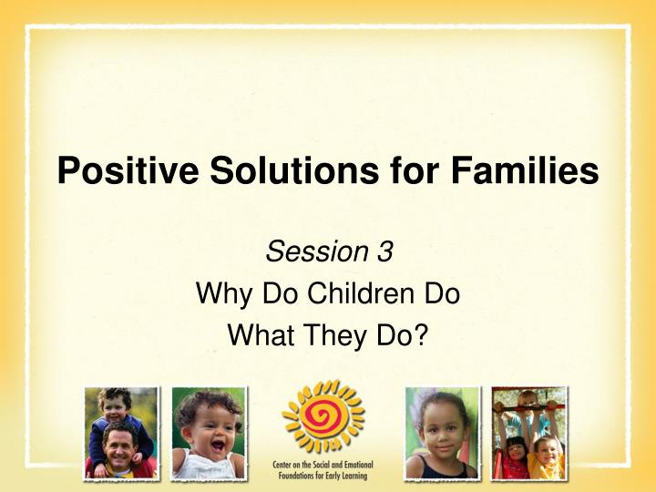 positive solutions for families n.