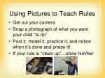 using pictures to teach rules